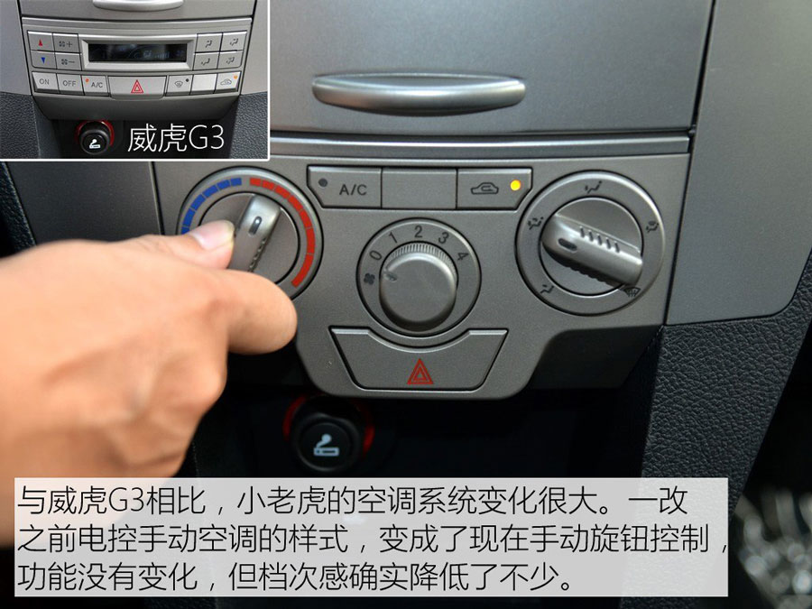 目前中兴威虎系列由低到高的产品包括小老虎、威虎G3和威虎TUV,未来主攻6-7万元的小老虎和8-10万元的威虎TUV车型将作为重点车型。小老虎车型与威虎G3较为相似,定价略低一些,不过该车在细节方面做了更人性化的调整。如威虎G3上具有装饰效果的后视镜转向灯进行了升级,最重要的是后排乘客安全带得以配备,并且售价有所下降,性价比优势更明显了一些。最后希望厂家能将前雾灯和安全气囊这些提升安全性的配置,设计成标配或选装才会更好。