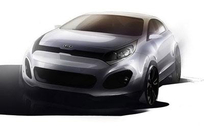 日内瓦车展首发 全新起亚RIO造型图公布