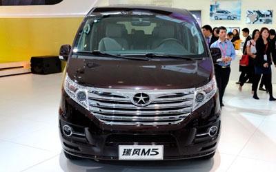2013款瑞风M5亮相上海车展 预售16.28万起