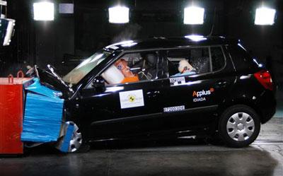 E-NCAP碰撞成绩 Fabia晶锐获得五星安全