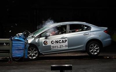 C-NCAP碰撞 东风本田思域以48.3分获五星