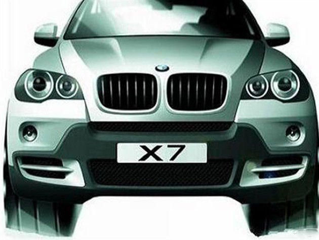 近日,海外媒体曝光了一张疑似宝马X7的官方图片。宝马集团在北京时间3月29日对外公布,X7车型将会在2017年进行量产。新车将有可能基于X5的底盘打造,并搭载V8双涡轮增压发动机。新车的概念版车型有可能会在北京车展上亮相。  疑似宝马X7官方图片   宝马X7是一款7座全尺寸SUV车型,也将是宝马X系列中体型最大的一款。该车将弥补宝马在全尺寸SUV车型的空缺,并将竞争对手直接锁定为奔驰GL车型。  宝马X7假想图   外观方面,宝