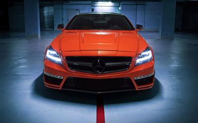 750马力橙色奔驰CLS63 AMG改装案例
