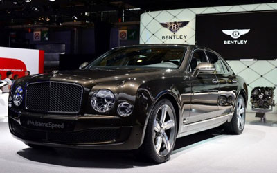 2014巴黎车展:宾利慕尚Speed正式发布