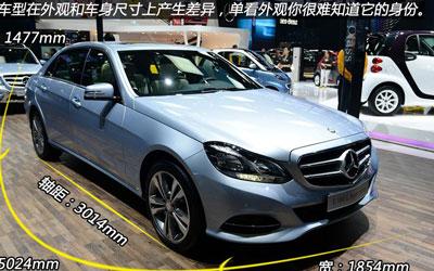 车展实拍北京奔驰E 180 L 解读低配车
