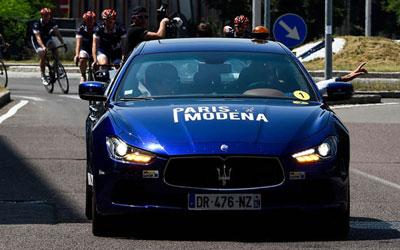 玛莎拉蒂骑行队为慈善跨越巴黎-摩德纳