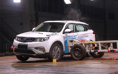 吉利博越以58.2分获C-NCAP五星安全评定