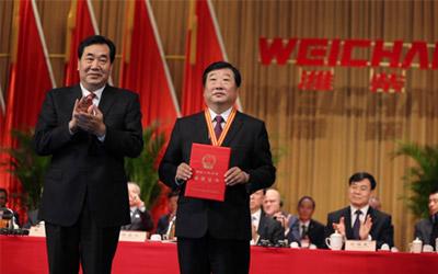潍柴董事长谭旭光被授予潍坊人民勋章