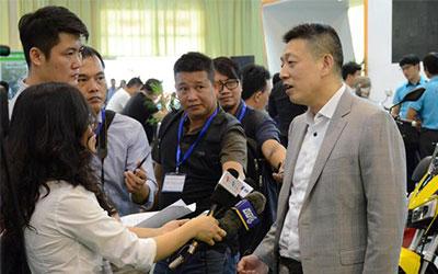 中国电动车领导品牌雅迪亮相越南国际展览会