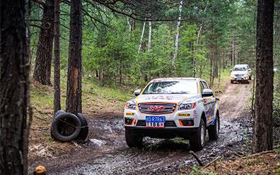 帅铃T6远征中蒙俄边界 挑战2018国际汽车拉力赛