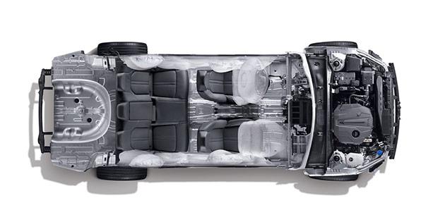 现代汽车i-GMP平台(俯视)