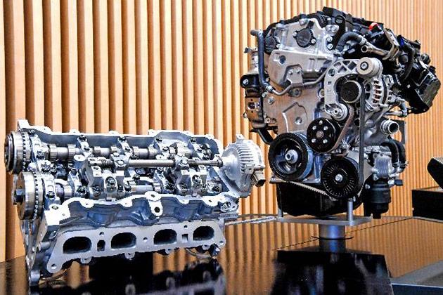 适用CVVD技术的Smart Stream G1.6 T-GDi发动机(右)和CVVD系统(左)